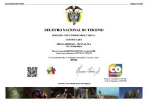 Registro Nacional Turismo Hotel Nitana